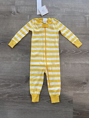 $19.99 • Buy New Hanna Andersson Pajamas One-piece Striped Sleeper Yellow US 6-12 Months