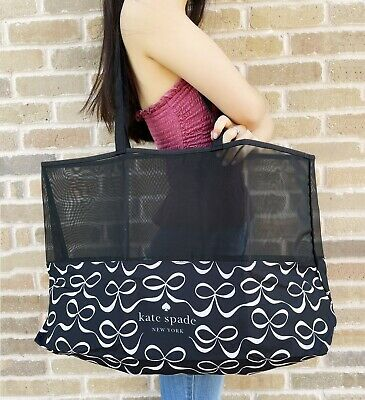 $ CDN40.07 • Buy New Kate Spade New York Bow Shopper XL Extra Large Foldable Shipping Tote Black
