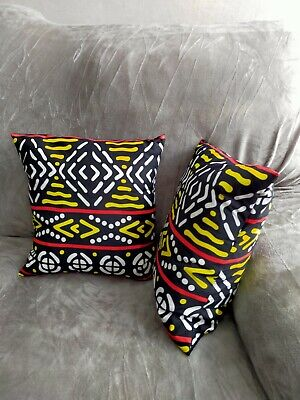 African Print Envelope Style Cushion Cover • 7£