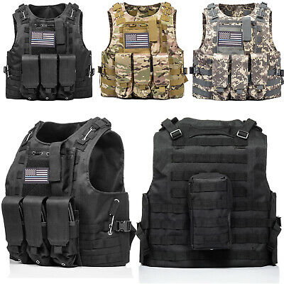 $31.99 • Buy Tactical Vest Molle Military Army Combat Assault 20x30cm Plate Carrier Holder