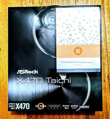 AU549 • Buy ASRock X470 Taichi Motherboard With EK CPU Waterblock