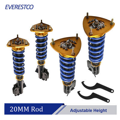 $247.96 • Buy Front & Rear Full Coilovers For 02-07 Subaru Impreza WRX GDB GDA 03-08 Forester