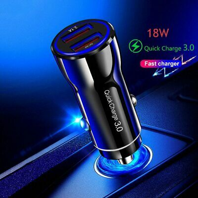 AU8.99 • Buy Fast Charge USB Car Charger Cigarette Lighter Adapter Iphone Samsung QC 3.0 AU