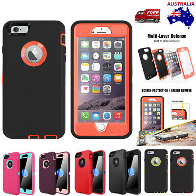 AU14.99 • Buy For IPhone SE 8 7 6 Plus 5s Case Heavy Duty Shockproof Rugged Rubber Full Cover