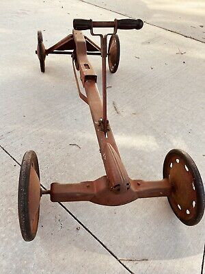 $535 • Buy Rare Fabulous Vintage Childs Irish Mail Ride On Metal Scooter Bicycle
