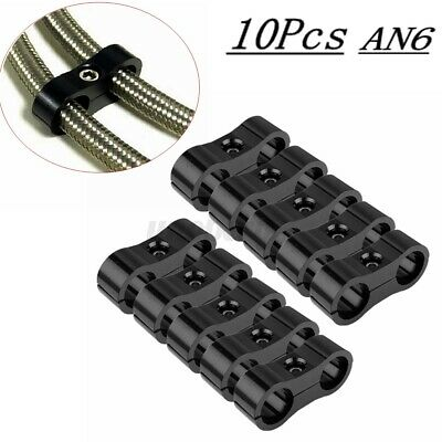 AU23.40 • Buy 10X AN6 AN-6 Braided Hose Separator Clamp Fitting Adapter Bracket 13.4MM