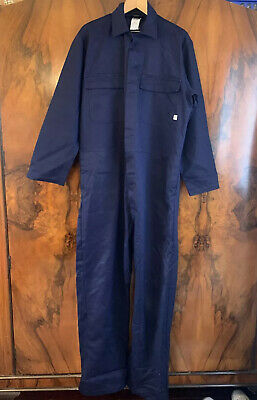 ARCO Proban Fire Resistant Navy Coverall Overalls Boiler Suit PPE Size 108x170cm • 25£