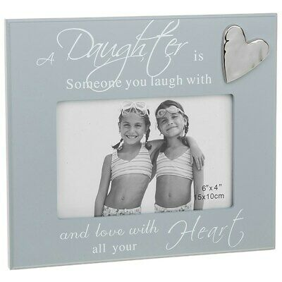 £13.95 • Buy Daughter Picture Frame In Grey Wood Holds 6 X 4 Inch Photo Gift 271445