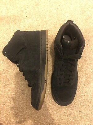 £90 • Buy Nike A.P.C Dunk Hi Skinny. Genuine Rare Collab. Great Condition. Size UK5. Black