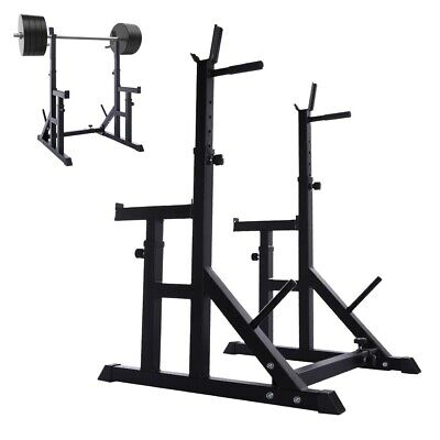 $ CDN211.32 • Buy Multi-Function Squat Rack Weight Lifting Barbell Stand Height Adjustable 550LBS