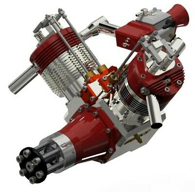 £39.95 • Buy WORKING VTWIN 100cc 4 STROKE MODEL GAS ENGINE PLANS FOR RC PLANE. PLANS ONLY