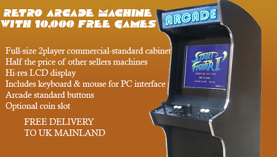 Coin Operated Arcade Machine - Classic Games - Retro Gaming - Games Room Shed • 749£