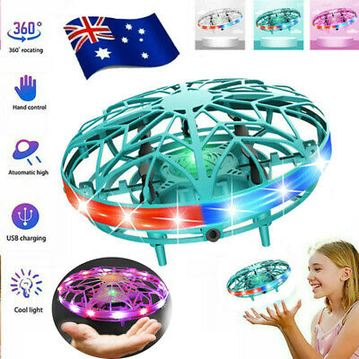 AU25.73 • Buy Mini Drone Quad Induction UFO Flying Toy Hand-Controlled RC For Kids Adults