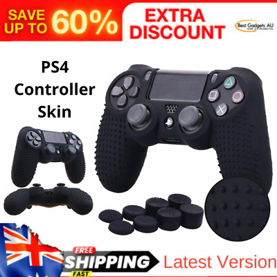 AU19.90 • Buy PS4 Controller Skin With 8 Thumb Grips, Anti-Slip Silicone Grip Cover Protector