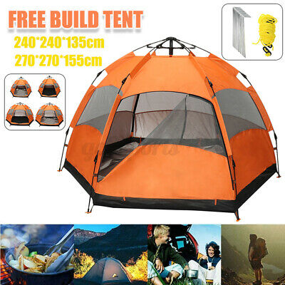 AU85.47 • Buy Automatic 2-Layer Tent Outdoor Camping Hiking Tents Waterproof For 4-6 Person AU