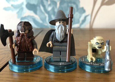 Lego Lord Of The Rings Minifigures Gandalf Gollum Gimli From Dimensions Retired • 19.99£