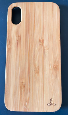 Snakehive Apple IPhone X/XS Genuine Natural Wooden Back Case Cover • 5£
