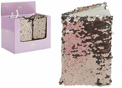 £3.99 • Buy A6 Sequin Notebook LINED Notepad Diary Reversible PINK Book Childrens Girls Kids