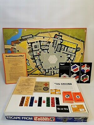 Vintage Escape From Colditz Board Game Original Parker 1973 100% Complete Mint • 48.99£