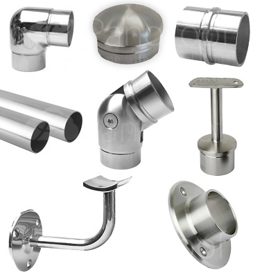£6.40 • Buy 42.2mm Stainless Steel Pole Stair Railing Handrail System +All Brackets Fittings
