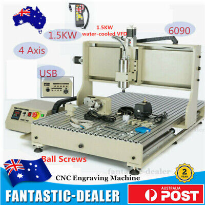 AU2868 • Buy CNC 6090 4-Axis 1500W Router USB Engraving Engraver Cutting Machine +Controller