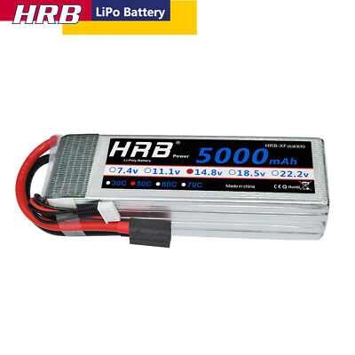 AU77.99 • Buy 14.8V 4S 5000mAh LiPo Battery 50C Traxxas For RC Car Truck Helicopter Airplane
