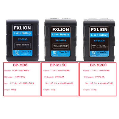 AU365.99 • Buy FXLION 14.8V BP 98/148/198Wh Mini Sony V Mount/V Lock Li-ion Battery For Camera