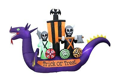$ CDN156.74 • Buy Halloween Inflatable Blowup Decoration Dragon Pirate Skeletons Bat Grim Reapers