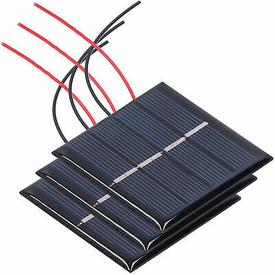 AU13.36 • Buy 3Pcs 0.45W 2V Mini Solar Panel Cells Micro Wired Polysilicon Solar Panel Battery