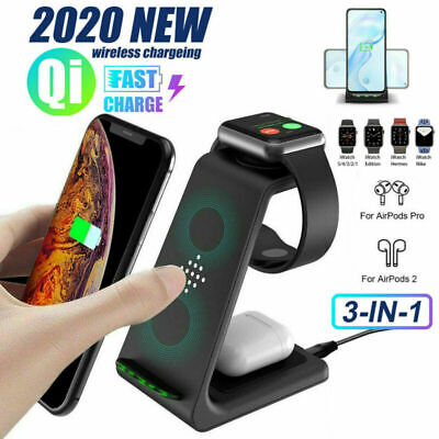 AU41.89 • Buy 3in1 Fast Wireless Charger Dock For Charging Samsung Galaxy Apple IPhone Watch