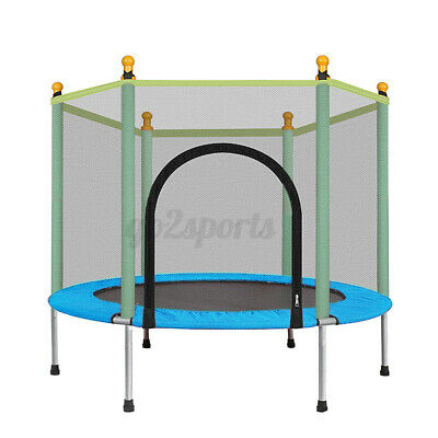 AU69.99 • Buy 4.5FT Kids Trampoline W/ Spring Cover Safety Net Jumping Pad Protection Guard
