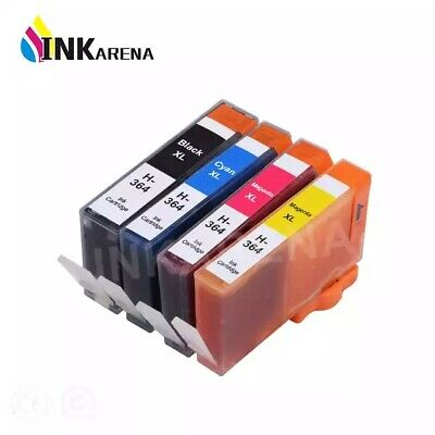 4 CHIPPED HP 364XL INK UCI Brand Fits For Hp PhotoSmart 5520 5510 6520 B110a • 5.80£