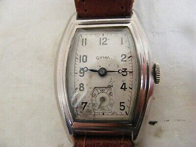 Art Deco AUTHENTIC CYMA GENTS WATCH C1920s-30s WORKING ORDER, VERY ATTRACTIVE • 125£