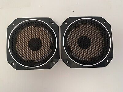 $59 • Buy Realistic Mach Two Mid Range Speaker Drivers And Grills - 1265 - 6 Ohms - Pair