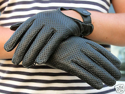 Mens Classic Driving Gloves Soft Genuine Real Lambskin Leather Tan Black Brown • 9.97£