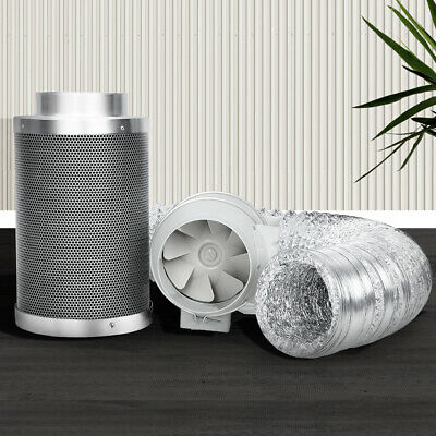 AU217.50 • Buy Grow Tent Ventilation Fan Hydroponics Exhaust Kit Carbon Filter Duct 2-speed 6