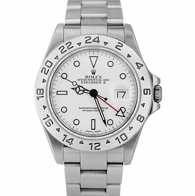 $ CDN9334.87 • Buy 2003 Rolex Explorer II Polar White Stainless SEL Steel 40mm GMT 16570 Date Watch