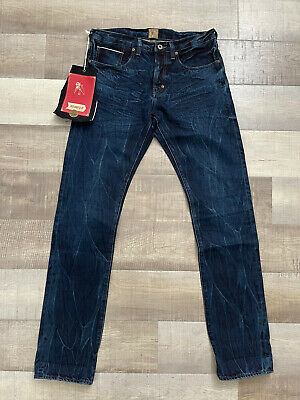 PRPS Demon Slim Taper Dark Washed Jeans Japanese Denim NWT! Size 32x34 • 128.74£
