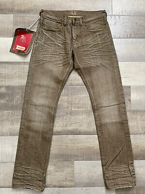 PRPS Demon Slim Taper Raw Stone Washed Jeans Japanese Denim NWT! Size 32x34 • 128.74£