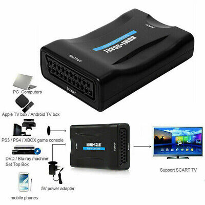 £5.59 • Buy HD 1080P HDMI To SCART Adapter Video Audio Converter USB For TV DVD PS SkyBox