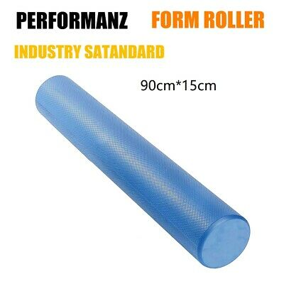 AU29.95 • Buy 92CM Foam Roller EPE EVA Physio Yoga Pilates Exercise Home Gym Back Massage Blue