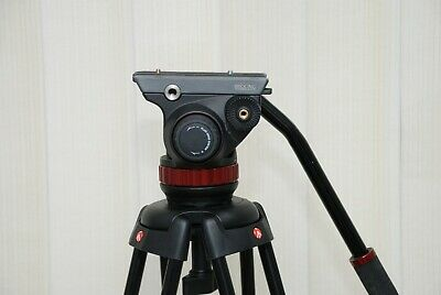 Manfrotto MVH502AH 75mm Pro Head +manfrotto 546B Two Stage Tripod Legs Plus Bag • 450£