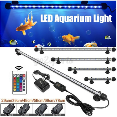 AU20.89 • Buy 19-69 CM Aquarium LED Lighting 1ft/2ft/3ft/4ft Marine Aqua Fish Tank Light