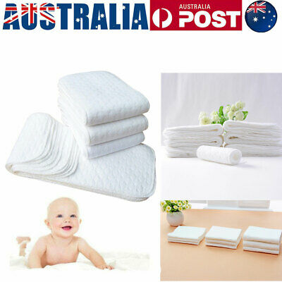 AU10.99 • Buy 10PCS Modern Nappy Inserts Liners Reusable Washable Cloth Nappies Diapers Baby
