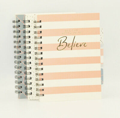 A5 Tabbed Project Book Office Notepad Spiral Bound 70gsm Lined Paper Notebook • 5.40£