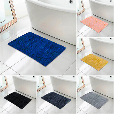 Luxury Large Washable Bath Mat Soft Thick Rugs Runners For Bathroom Shower Rug • 6.99£