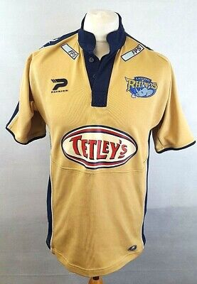 PATRICK LEEDS RHINOS Mens Rugby League Shirt S Small Gold Polyester • 7.99£