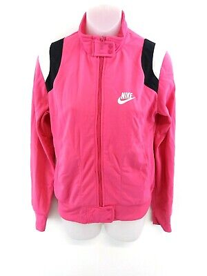NIKE Womens Tracksuit Top Track Jacket 10/12 M Medium Pink Polyester • 13.99£