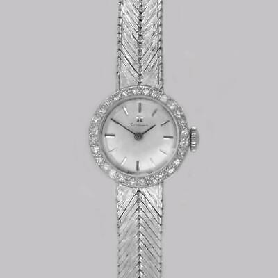 Omega Diamond Bracelet Watch 18ct White Gold Ladies Vintage 1960's Manual Watch • 2,750£
