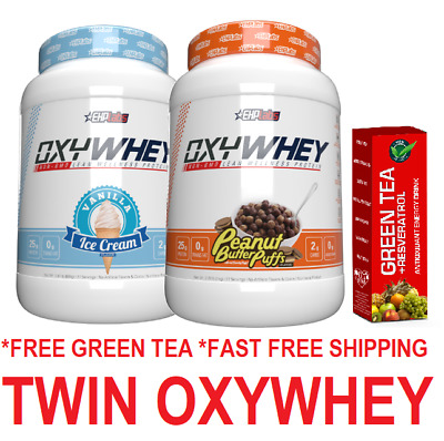 AU119.90 • Buy EhpLabs OxyWhey Twin Pack Lean Wellness Protein All Flavours